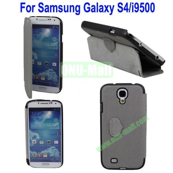 Mat Lines Flip Leather Case Cover for Samsung Galaxy S4i9500 with Stand(Grey)