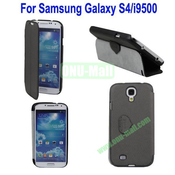 Mat Lines Flip Leather Case Cover for Samsung Galaxy S4i9500 with Stand(Black)