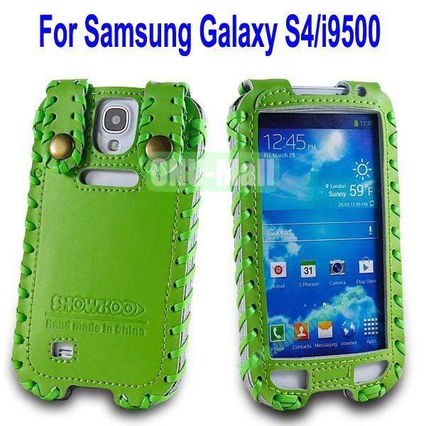 High Quality Elegant Duke Style Genuine Leather Case for Samsung Galaxy S4i9500(Green)