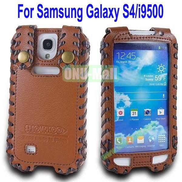 High Quality Elegant Duke Style Genuine Leather Case for Samsung Galaxy S4i9500(Brown)