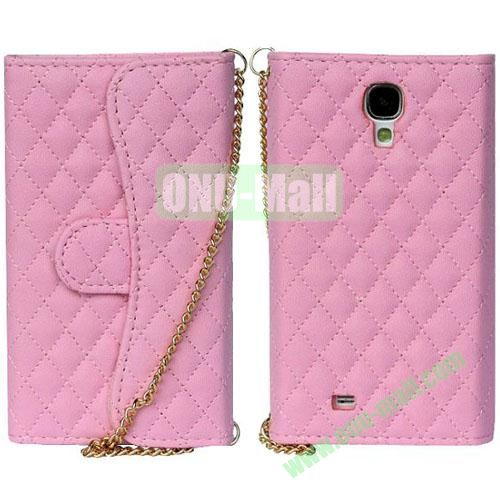 Rhombus Pattern Wallet Magnetic Flip Leather Case for Samsung Galaxy Note 3N9000 (Pink)