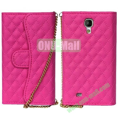 Rhombus Pattern Wallet Magnetic Flip Leather Case for Samsung Galaxy Note 3N9000 (Rose)