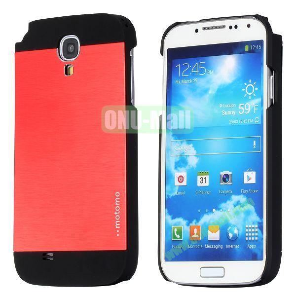 Motomo Aluminium Alloy Hard Case for Samsung Galaxy S4  I9500 (Red)