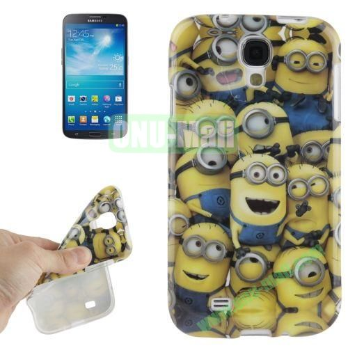 For Samsung Galaxy S IVI9500 Minions Pattern TPU Case
