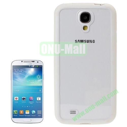 Transparent Plastic + TPU Frame Case for Samsung Galaxy S4  i9500 (White)