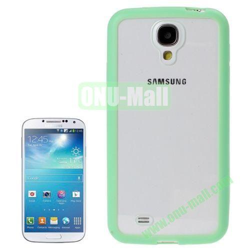 Transparent Plastic + TPU Frame Case for Samsung Galaxy S4  i9500 (Green)