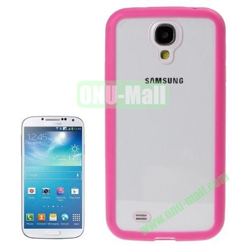 Transparent Plastic + TPU Frame Case for Samsung Galaxy S4  i9500 (Rose)
