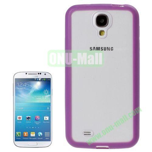 Transparent Plastic + TPU Frame Case for Samsung Galaxy S4  i9500 (Purple)