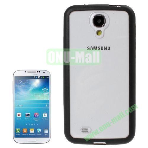 Transparent Plastic + TPU Frame Case for Samsung Galaxy S4  i9500 (Black)