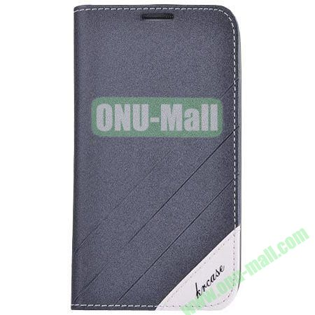 Frosted PU Wallet Pattern Leather Case for Samsung Galaxy S4 with Holder and Card Slots (Grey)