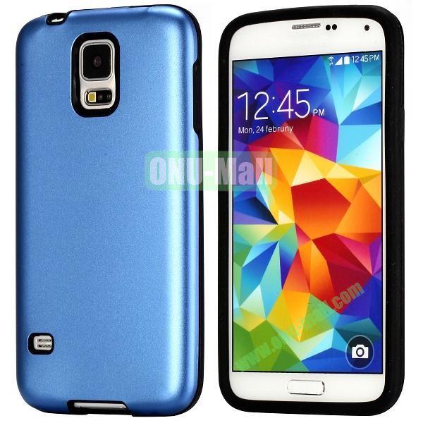 Fashion 2 in 1 Aluminium + Silione Hybrid Case for Samsung Galaxy S5 I9600 (Blue)