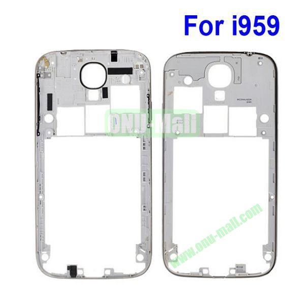 Back Cover Housing Replacement Frame Bezel Spare Parts for Samsung Galaxy S4 i9500 (White)