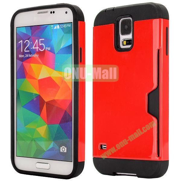 Dual Color Detachable TPU and PC Hybrid Case for Samsung Galaxy S5 I9600 (Red and Black)