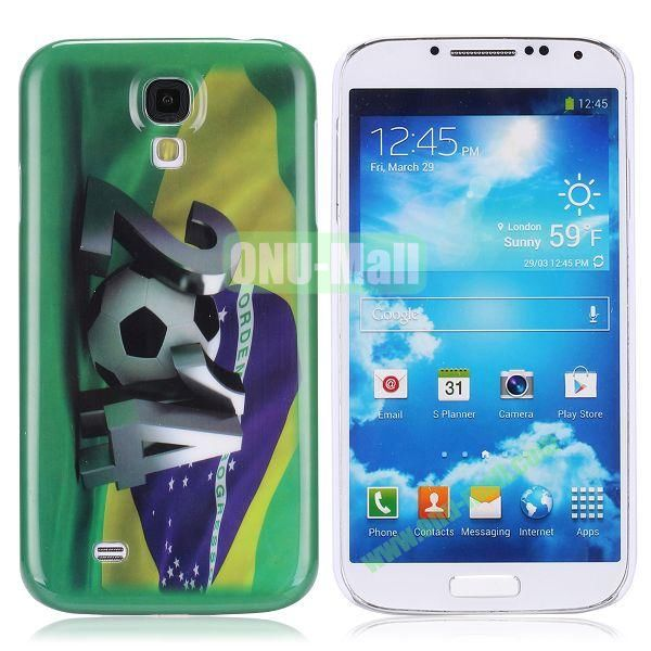2014 FIFA Mascot Brazil World Cup Pattern Smooth Plastic Hard Back Case for Samsung Galaxy S4 i9500 (Brazil)