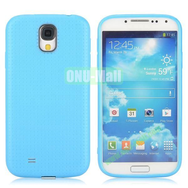 Mesh Pattern TPU Case for Samsung Galaxy S4 i9500 i9505 i9508 i9509 (Blue)