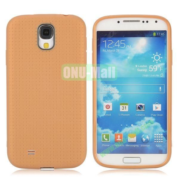 Mesh Pattern TPU Case for Samsung Galaxy S4 i9500 i9505 i9508 i9509 (Yellow)