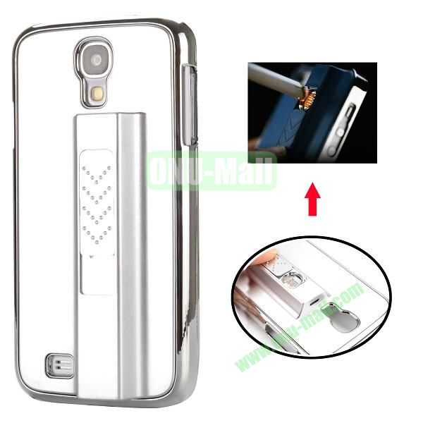 Electronic Rechargeable Smoking Cigarette Lighter Electroplated PC Hard Case for Samsung Galaxy S4 i9500 (Silver)