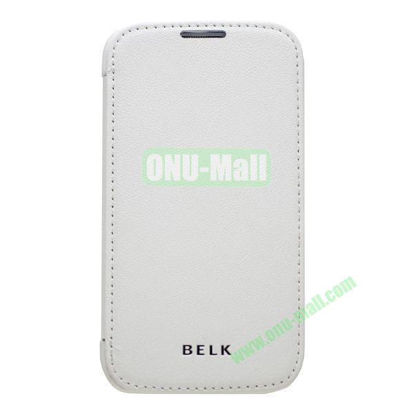 Original BELK Official Lichee Leather Case Cover for Samsung Galaxy S4  I9500 with Magnet (White)