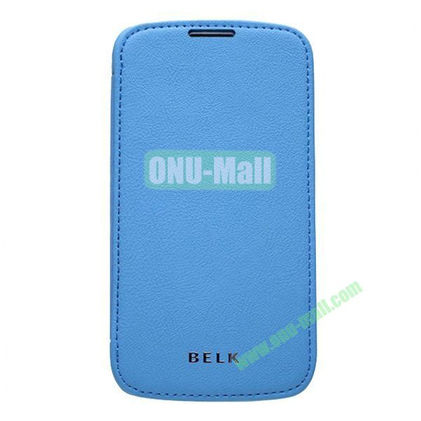 Original BELK Official Lichee Leather Case Cover for Samsung Galaxy S4  I9500 with Magnet (Blue)