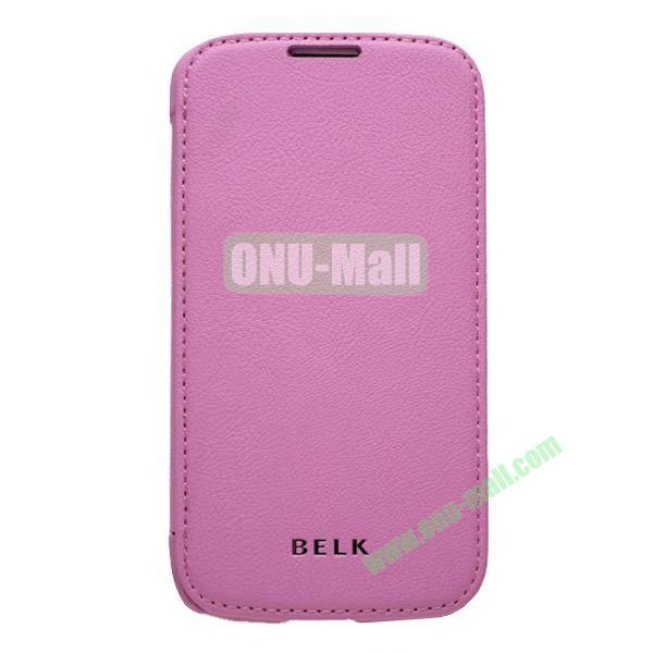 Original BELK Official Lichee Leather Case Cover for Samsung Galaxy S4  I9500 with Magnet (Pink)