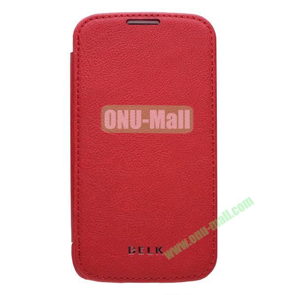 Original BELK Official Lichee Leather Case Cover for Samsung Galaxy S4  I9500 with Magnet (Red)
