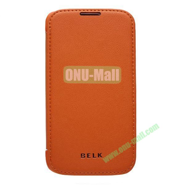Original BELK Official Lichee Leather Case Cover for Samsung Galaxy S4  I9500 with Magnet (Orange)