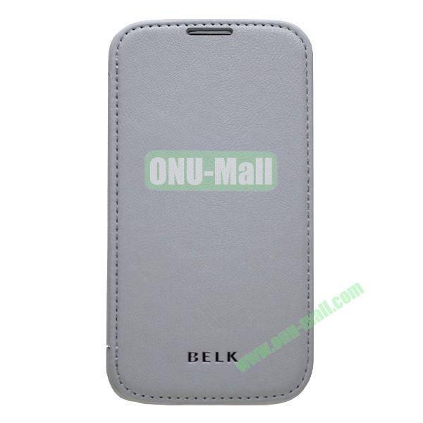 Original BELK Official Lichee Leather Case Cover for Samsung Galaxy S4  I9500 with Magnet (Grey)