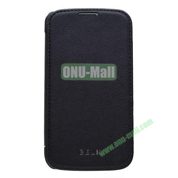 Original BELK Official Lichee Leather Case Cover for Samsung Galaxy S4  I9500 with Magnet (Black)