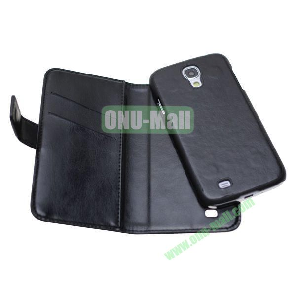 New Arrival Detachable Wallet Leather Case + PC Inside Case for Samsung Galaxy S4  i9500 (Black)