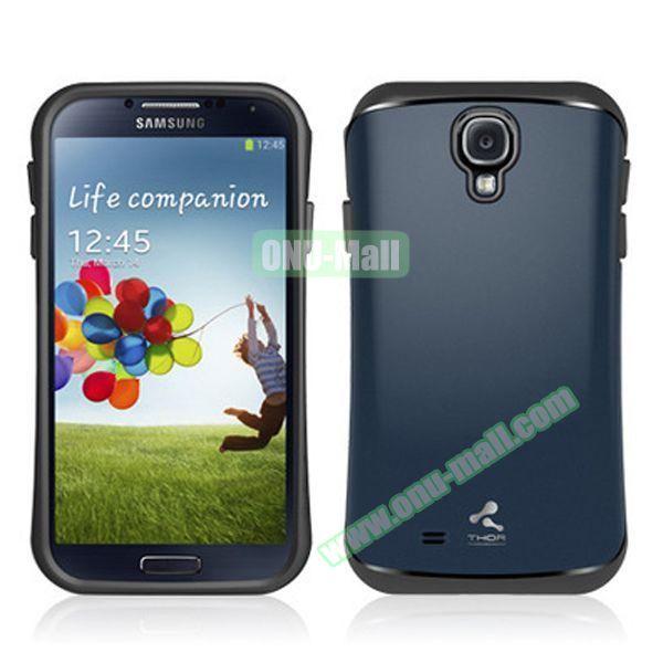 Verus Style Thor Armor Design Hybrid TPU and PC Hard Case for Samsung Galaxy S4 i9500 (Dark Blue)