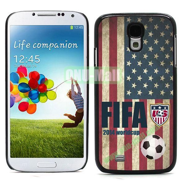 2014 FIFA World Cup Team Flag Pattern Hard Case for Samsung Galaxy S4 i9500 (USA)
