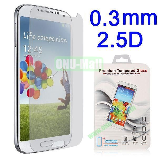 2.5 Degree Arc Incision 0.3mm Explosion-proof Tempered Glass Screen Protector Film Guard for for Samsung Galaxy S4 i9500