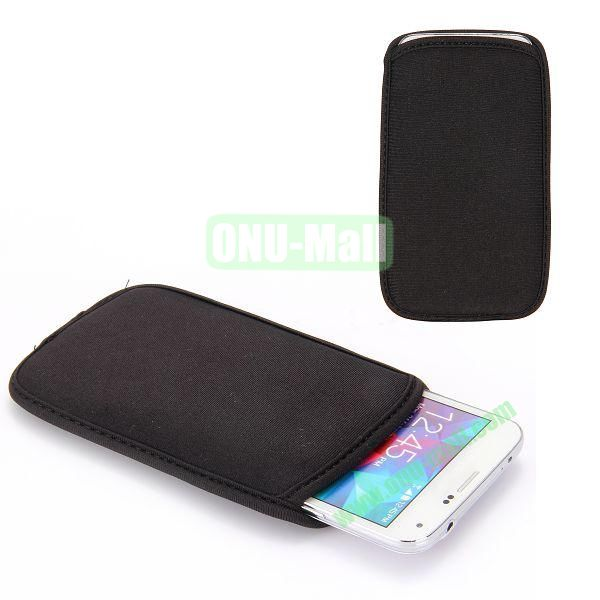 High Quality Universal Soft Cloth Pouches Case for Samsung Galaxy S5  I9600 (Black)
