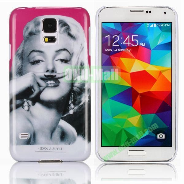 Sexy Marilyn Monroe Pattern Smooth Hard Case for Samsung Galaxy S5  I9600