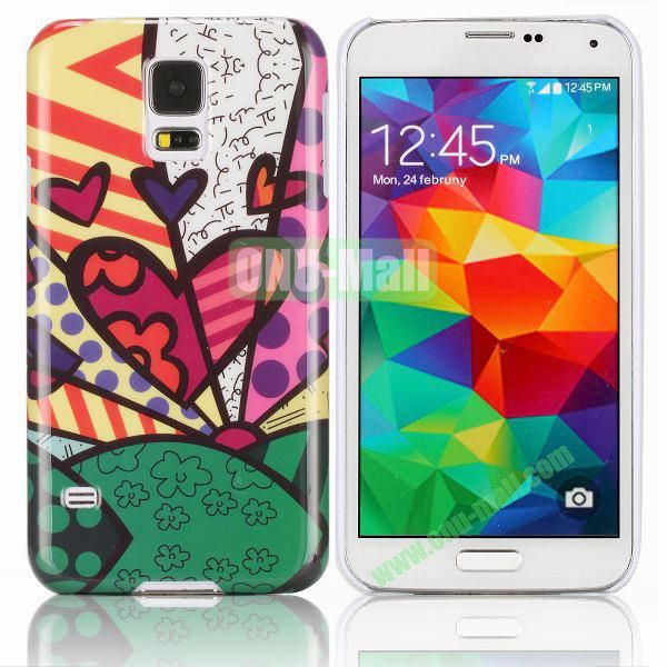 Collage Style Heart Pattern Smooth Hard Case for Samsung Galaxy S5  I9600