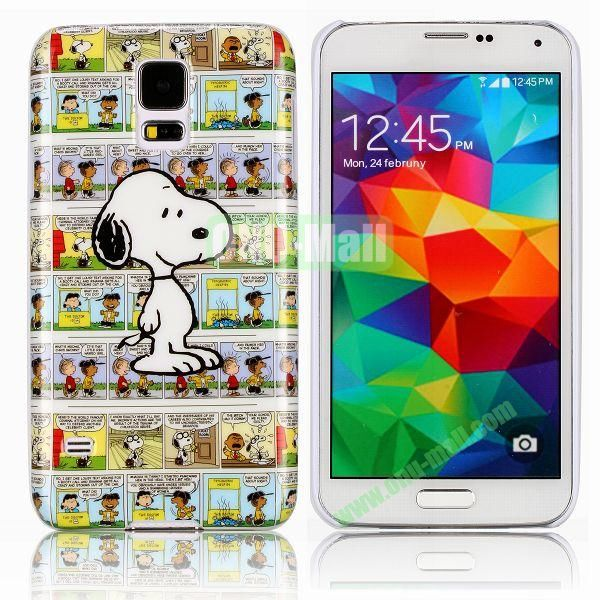Snoopy Pattern Smooth Hard Case for Samsung Galaxy S5  I9600