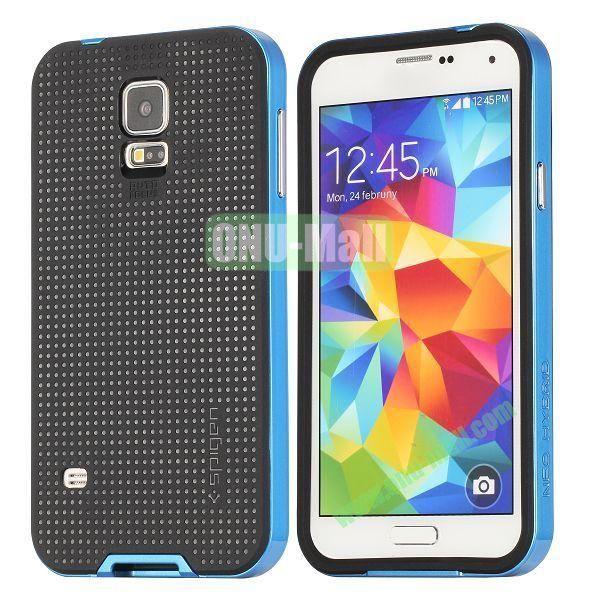 PC+TPU Case for Samsung Galaxy S5  I9600 (Blue+Black)