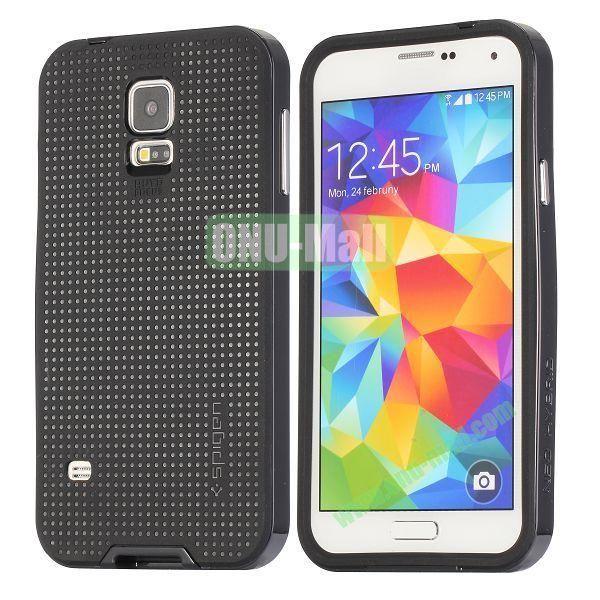 PC+TPU Case for Samsung Galaxy S5  I9600 (Black)