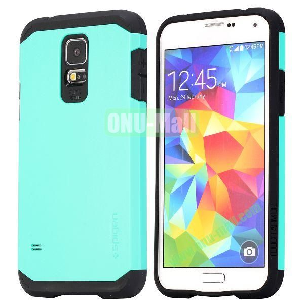 Detachable TPU + Hard PC Case For Samsung Galaxy S5  I9600 (Light Blue)