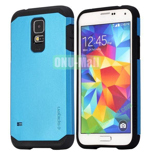 Detachable TPU + Hard PC Case For Samsung Galaxy S5  I9600 (Blue)