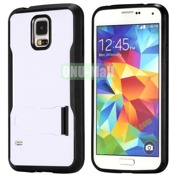 Mix Color Hybrid PC and TPU Case with Kickstand for Samsung Galaxy S5 (Black and White)