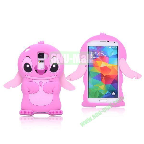 Cute Cartoon Stitch Design Silicon Case for Samsung Galaxy S5  I9600 (Pink)