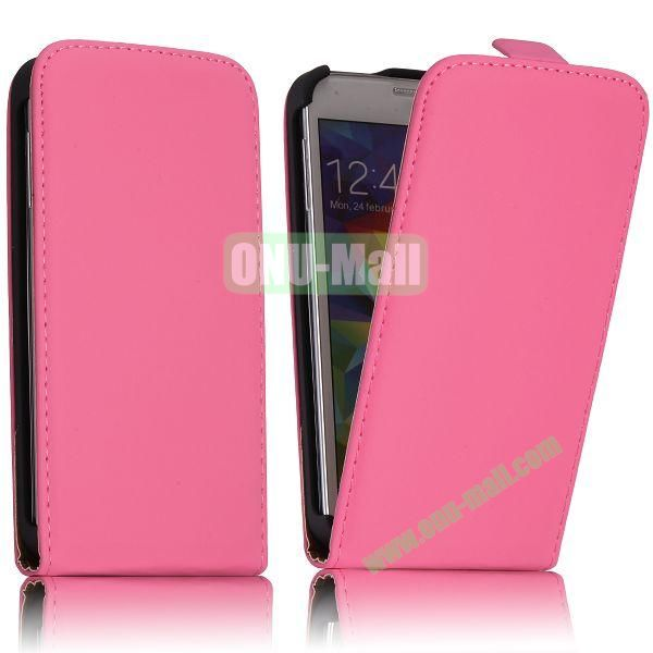 Classic Style Vertical Flip Magnetic Leather Case for Samsung I9600 Galaxy S5  G900 (Pink)