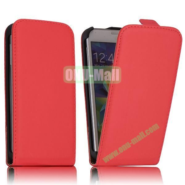 Classic Style Vertical Flip Magnetic Leather Case for Samsung I9600 Galaxy S5  G900 (Red)
