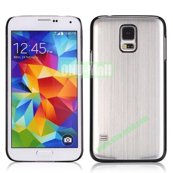 Drawing Process Design Aluminum Protective Hard Case for Samsung Galaxy S5  I9600 (Silver)
