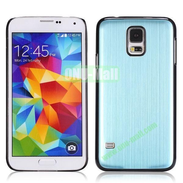 Drawing Process Design Aluminum Protective Hard Case for Samsung Galaxy S5  I9600 (Light Blue)