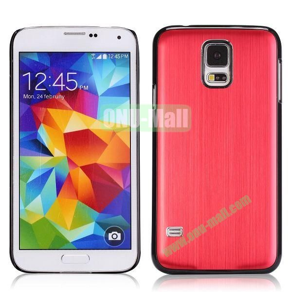 Drawing Process Design Aluminum Protective Hard Case for Samsung Galaxy S5  I9600 (Red)