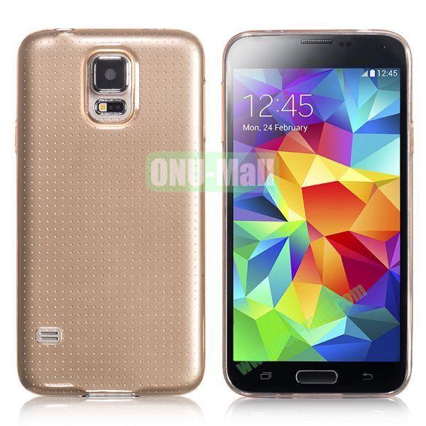 HOCO 0.5mm Ultrathin Soft TPU Case for Samsung I9600 Galaxy S5 (Brown)