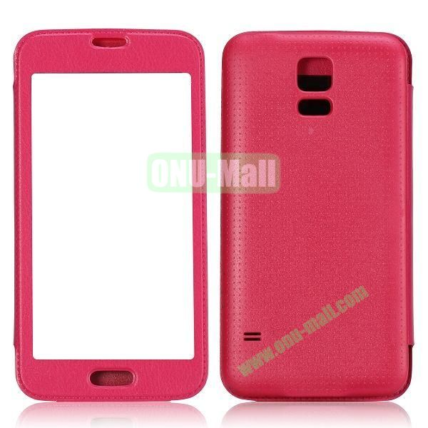 Fashion Screen Display Leather Case for Samsung Galaxy S5  I9600 (Rose)