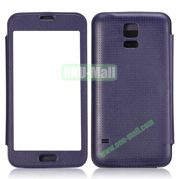 Fashion Screen Display Leather Case for Samsung Galaxy S5  I9600 (Purple)
